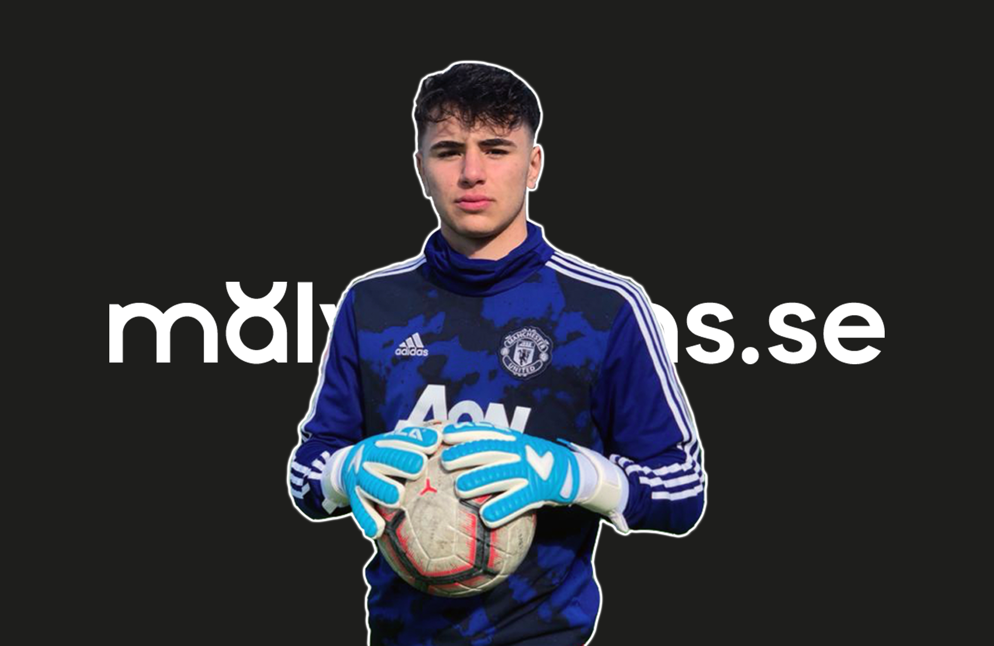 Johan Guadagno, målvakt i Manchester United